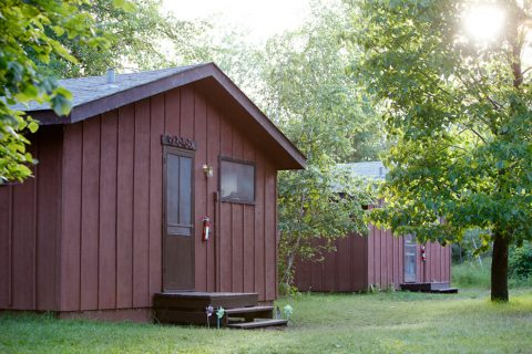 Photo of a camp bunk from the outside at Camp Thunderbird for Girls