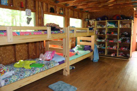 Girls bunk at Camp Thunderbird